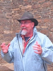 Paul Reed leading a tour at Chaco Culture National Historical Park earlier this year.