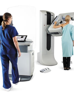 Pardee Hospital provided this image of a 3D mammography machine in use.