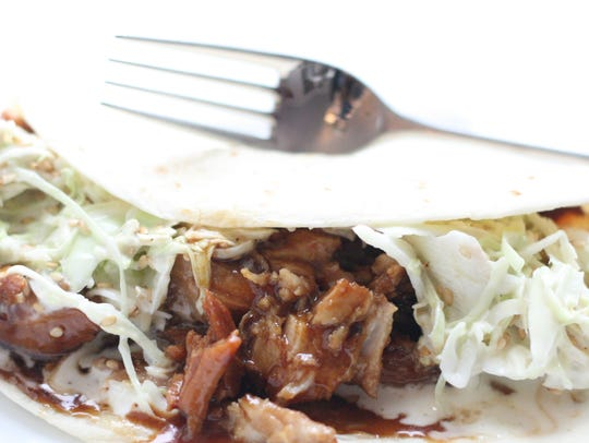 Hoisin Glazed Pork can be used for delicious soft tacos.