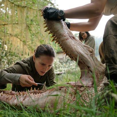 "Natalie Portman and Tessa Thompson in ""Annihilation,"""