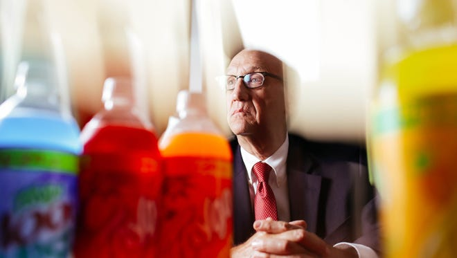 """""""Wrong. Just plain wrong,"""" said Hugh Matthew Rosenthal, 70, of Farmington Hills, Michigan, who is the grandson of the founder of Faygo. He is suing the iconic Detroit soda pop company for age discrimination. Rosenthal says Faygo fired him because of his age and replaced him with a younger male employee."""