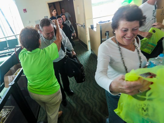 Passengers were greeted with shell necklaces and a bag full of goodies when the deplaned. Frontier is bringing new routes to Southwest Florida International Airport. This first flight is  an arrival from Islip, Long Island, New York.