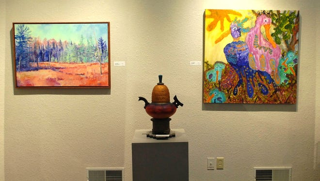 Artwork by more than 40 past and present artists who have been featured on the annual Hidden Studios: Art Along the Ice Age Trail tour are featured in an exhibit through Oct. 19 at the Riverfront Arts Center.