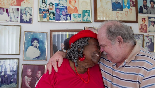Bertha Redden, who will turn 90 in May, married her second husband, Bob DeMarco, 61, in 1998. Redden was DeMarco's nanny when he was a child.
