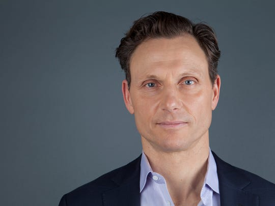"This Jan. 30, 2013 photo shows actor Tony Goldwyn from the ABC television series ""Scandal"" in New York. Goldwyn portrays President Fitzgerald Grant, who is having an affair with his former communications director, Olivia Pope, portrayed by Kerry Washington."