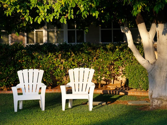 Chairs sit in front of a home in Arcadia in Phoenix.