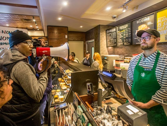 AP STARBUCKS - BLACK MEN ARRESTED A USA PA