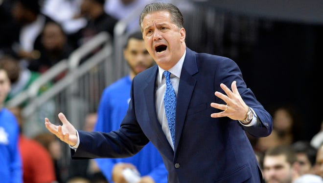 Kentucky's John Calipari coached in his first game at The Pavilion on Thursday.
