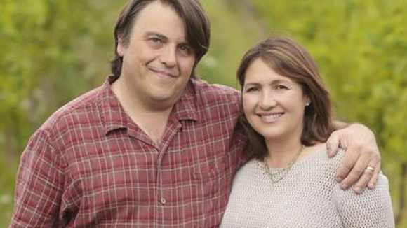 Morten and Lisa Hallgren, co-owners of Ravines Wine Cellars.
