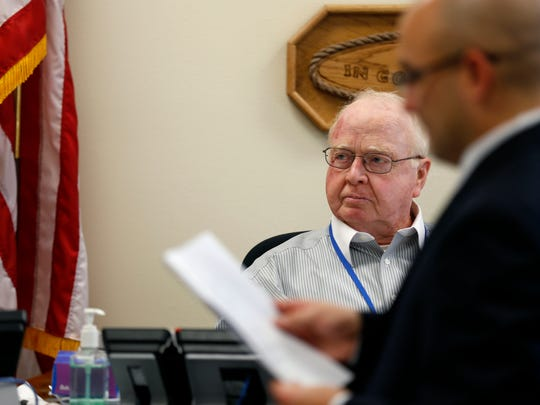 Christian County Presiding Commissioner Ray Weter listens
