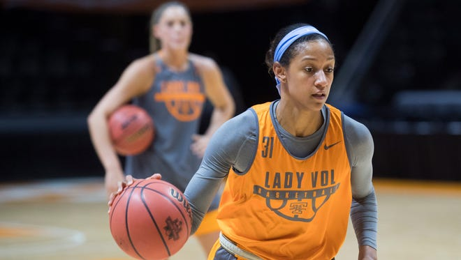 Tennessee's Jaime Nared practices on Thursday, March 15, 2018.