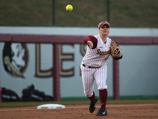 Florida State third baseman Jessica Warren has not