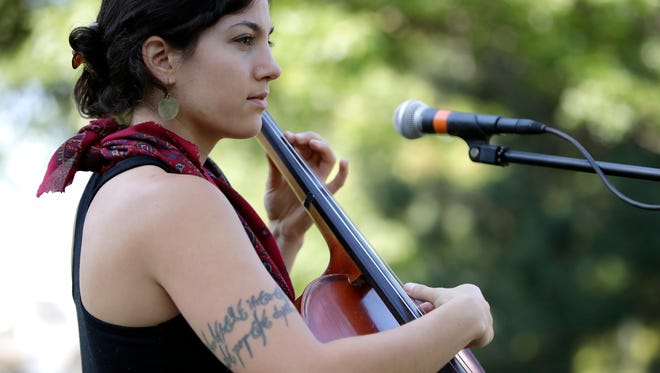 Auralai performs at City Park during Mile of Music in August 2017 in Appleton. The folk group will kick off a new Wausau concert series on Friday.