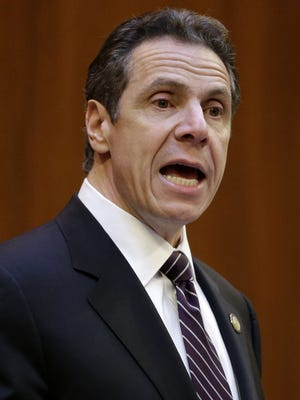 New York Governor Andrew Cuomo speaks on Feb. 5.