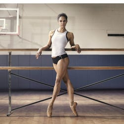 """Misty Copeland, a soloist in the American Ballet Theatre, appears in Under Armour's """"I Will What I Want"""" advertising campaign. The campaign promotes a message that all women are strong, have worth and are deserving of respect."""