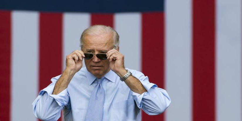 BIDEN NOT GETTING HIS IMAGINARY ELECT STATUS AS EASY AS HE THOUGHT… 1397599044000-Biden-Sunglasses