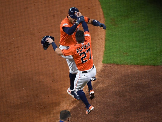 USP MLB: ALDS-BOSTON RED SOX AT HOUSTON ASTROS S BBA HOU BOS USA TX