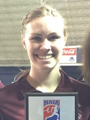 Sydney Anderson won the 800-meter run at the WHAC indoor