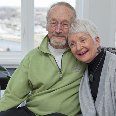 David Hurd and his wife, Trudy, of Des Moines in their apartment at the Plaza on Friday, Feb. 10, 2012.
