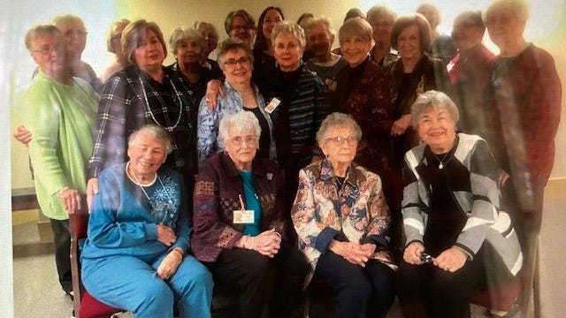 Members of the Van Alstyne Culture Club pose for a photo. The group was founded in 1896 as a way for local women to honor home, education and community.