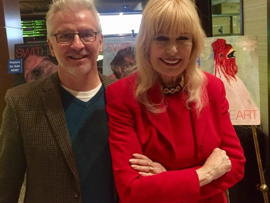 Chuck Yates of Coyote Stageworks appears with Loretta Swit following her appearance at a Coachella Valley Repertory Luminary Luncheon.