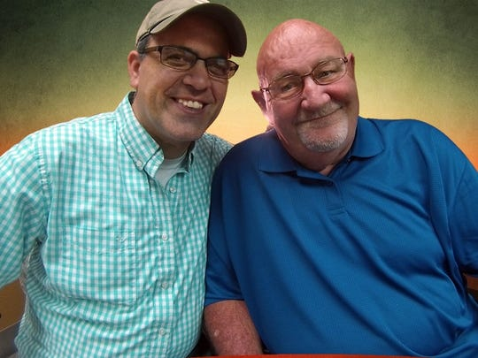 Phil Hickerson (right) is pictured with broadcast partner