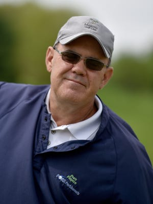 Doug Kuntz poses Friday, April 21, 2017, at Elks Country Club where he is the PGA professional.