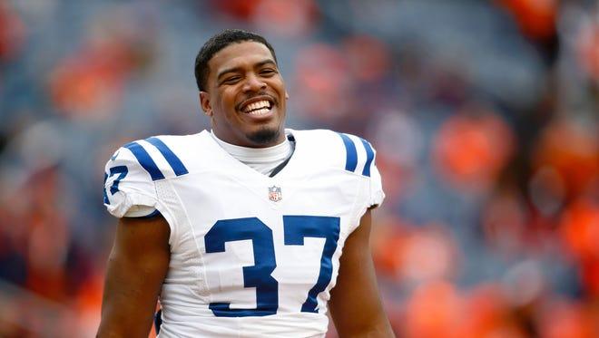 FILE – Former Colts RB Zurlon Tipton died at age 26 after accidental gunshot.