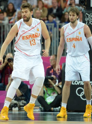 Spain's Marc and Pau Gasol anchor the best frontcourt in the FIBA World Cup.
