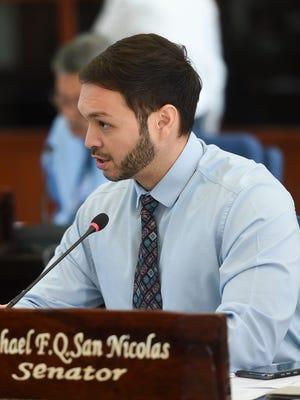 Sen. Michael F.Q. San Nicolas at the Guam Congress Building in Hagåtña on Nov. 28, 2017.