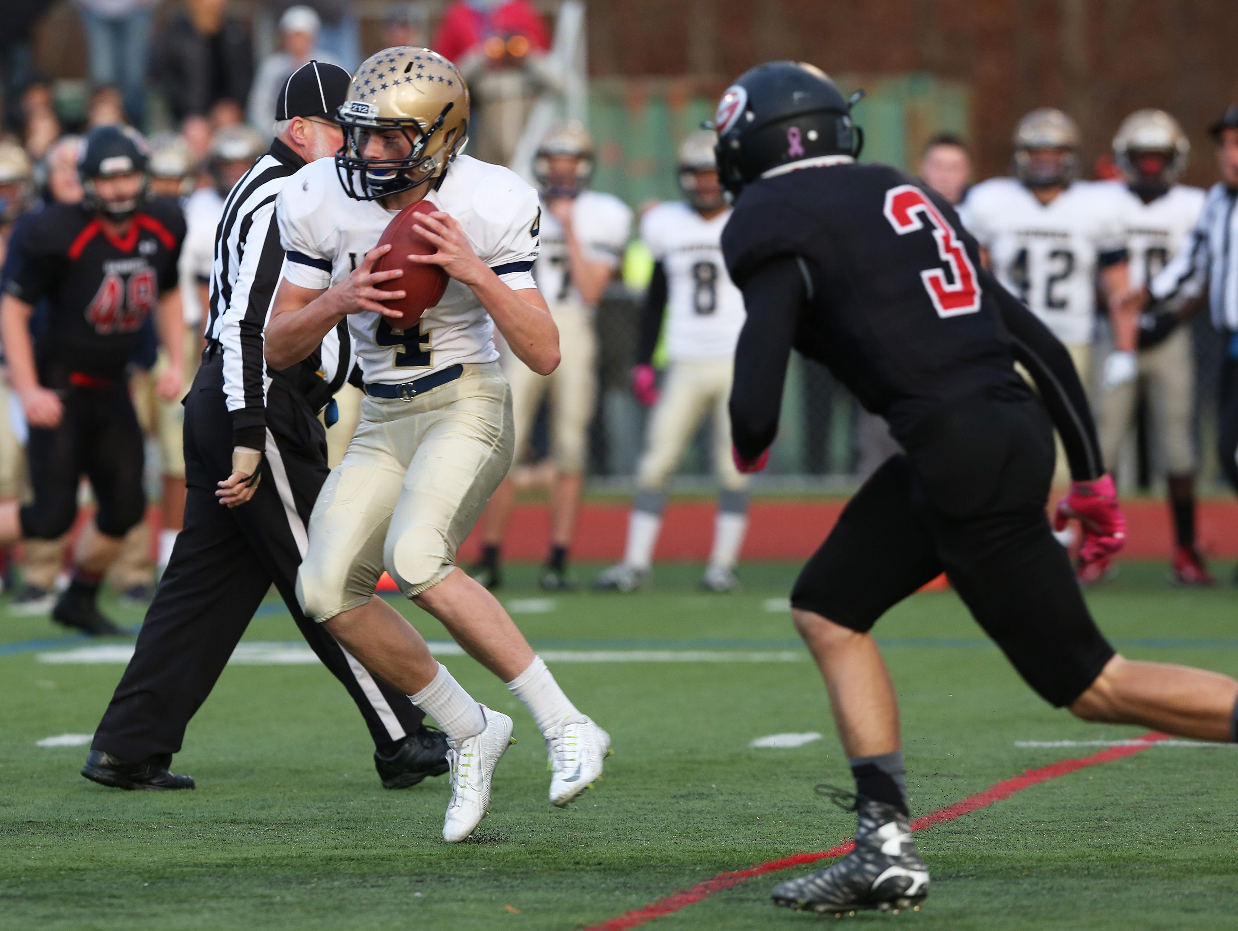 Lourdes defeated Rye 14-7 in the Section 1 Class A championship football game at Arlington High School Nov 7, 2015.