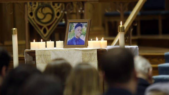 Iona College held a prayer service at Arrigoni Center on April 7, 2016, for Iona student Brandon Lawrence, who was shot and killed.
