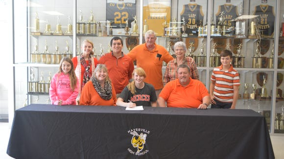 Hayesville senior Amanda Thompson has signed to play college basketball for Mercer (Ga.).