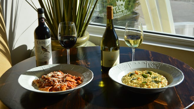 Homemade bolognese and risotto dishes are two favorites.
