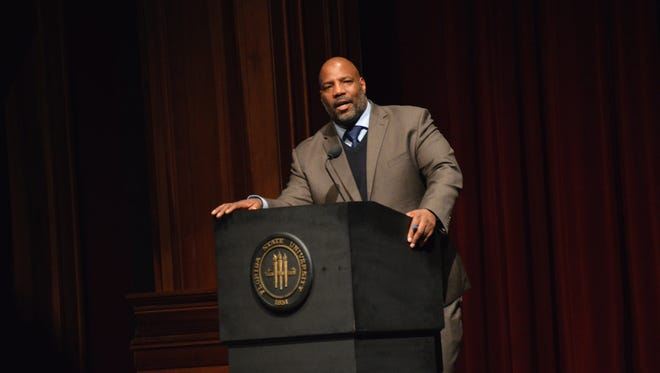 Jelani Cobb, staff witer at the New Yorker and associate professor of history at the University of Connecticut, lectured on the historical context to the racial tensions we see today.