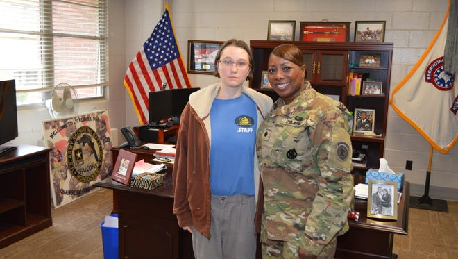 Private Kelly Elizabeth Wilson enlists in Army as first woman in Alabama to enter a combat role.