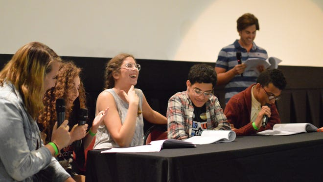 "Members of the SLC Executive Board and Greg Sestero preform a live reading of the script for ""The Room."""