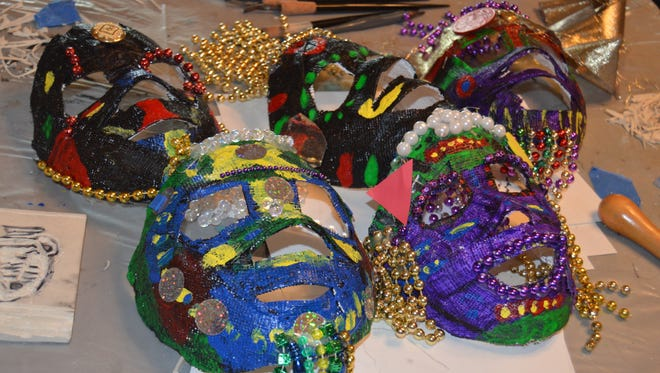 At the Arna Bontemps summer camp, students created Mardi Gras masks with the help of Leslie Elliottsmith -  a local artist who is no stranger to the depths of Louisiana culture.