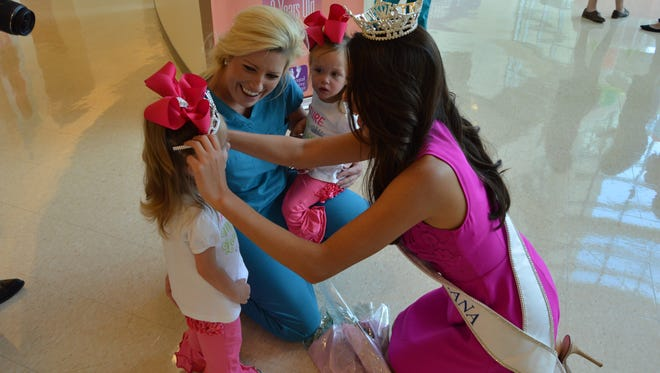 Justine Ker visited Cabrini hospital recently. It was her first tour at a Children's Miracle Network hospital since being crowned Miss Louisiana 2016 in June. (July 19, 2016)