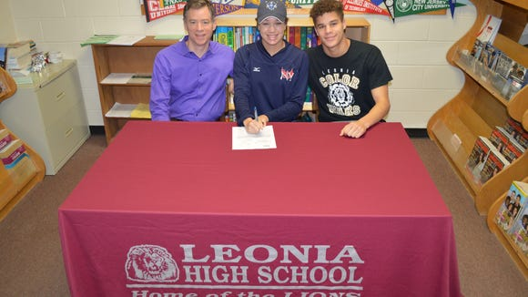 Leonia HS senior Maxine Walsh signed a letter of intent