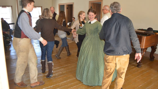 As local musicians Matt Harvey and Carol Jensen perform live period music, Wade House guests will have the opportunity to learn popular dance steps of the 1850's.