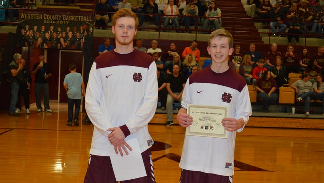 Two Henderson County High School Colonels, Logan McKinney and Holden Raley, were both named to the All District Academic Team. From left: Logan McKinney and Holden Raley.