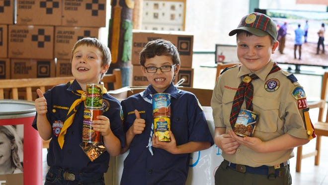The 28th annual Scouting for Food kicked off at the start of March. Scouts will be going door-to-door collecting food over the weekends.