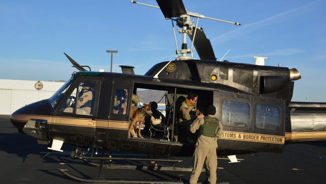 A CBP Air and Marine Operations helicopter rescued three undocumented immigrants in the desert near Sierra Blanca last week.