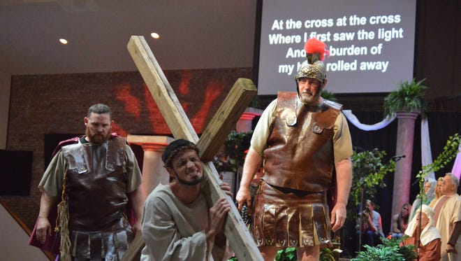 """The passion of Jesus' crucifixion and resurrection will come to life April 19, 20 and 21, when members of Faith Baptist Church present """"Victorious"""" at the church, 3001 Southwest Parkway. The dramatic presentation is free, as is child care for children age 4 and younger."""