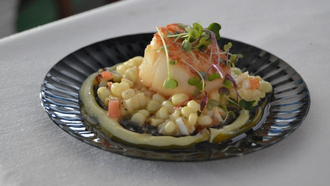 The winning dish in 2016: pan seared scallops with roasted corn relish, avocado crema and cilantro vinaigrette, prepared by chef Dan Reilly from Rehoboth Beach Country Club.