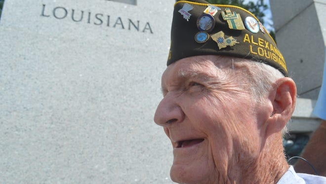 Herbert St. Romain, a 95-year-old veteran, recently visited the National WWII Memorial. He said he never thought he would see the memorial.