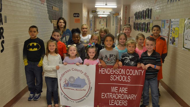 Jefferson Elementary's August leaders of the month are, front row from right: Khloe Gibson, Abigal Hazel, Adalynn Hazel, Kingston Meadows, Alex Miller and Paxton Benson. 2nd row: Ma'Laikye Taylor, Jayden Whitlock, Laela Webb, Alyssa Willhelm, Lauren Nelson and Kiley Roberson. Back row: Mary Jane Harris, Brily Smith, Faithlynn Caine, Ricky Roberson and Antonio Turner.