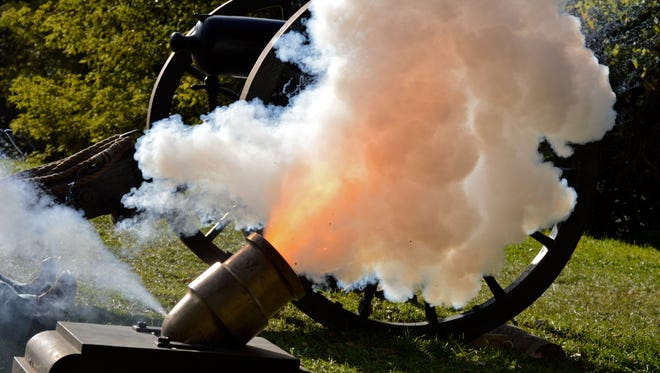 A cannon fires at the Big Island Rendezvous.