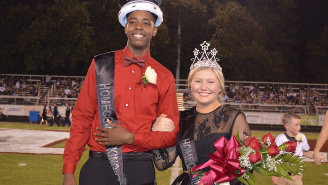 Latta-Rose Stinson and Jett Savage were crowned as Henderson County High School Homecoming King and Queen 2017 at Friday's football game. Both Stinson and Savage are seniors at HCHS.